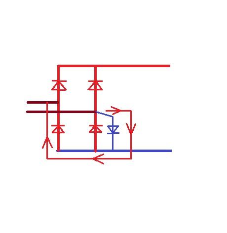 半波整流电路中的二极管接反,会有何影响?