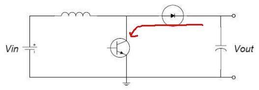 2,快恢复二极管在降压电路中,将直接导致电源通过mos对地短路