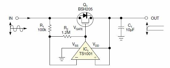 二极管电路的反向泄漏小于肖特基二极管