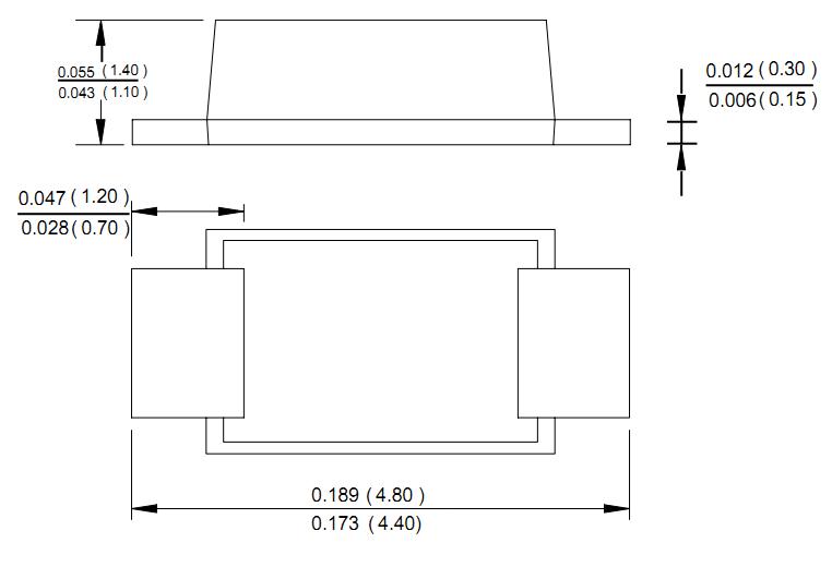 深圳辰达行电子强势推出SMAF封装产品线, 1:此产品采用超薄、灵活、优化新型设计 2:高度仅为1.3MM,比普通打扁SMA的2.25MM和框架SMA的2.1MM薄百分之40 3:直接代替打扁SMA与框架SMA产品使用:电流容量大,GPP玻璃钝化涵盖1A-2A,Schottky肖特基涵盖1-5A 4:采用框架焊接式工艺 提供了高可靠性和电流容量大等特性, 5:低热阻低结温高抗浪涌设计,引线平贴器件底部,散热路径短,改进了用于硅芯片散热的片状引线框架的外形,抗正向浪涌能力强,实现了小体积大功率的技术突破;